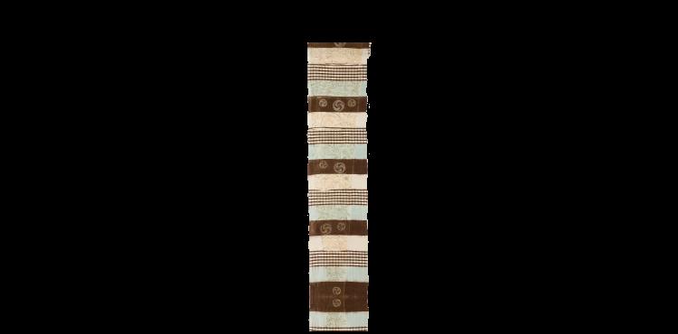段に巴紋と蝶貝雪輪文摺箔