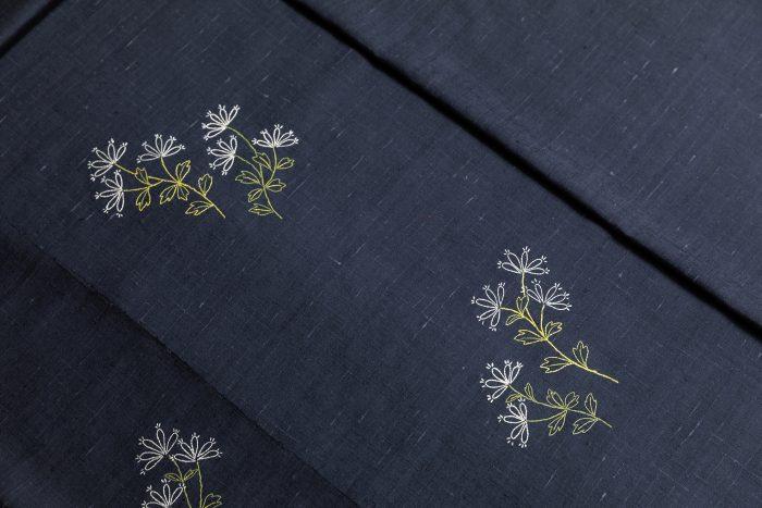 10月の着物と帯コーディネート 田中創造