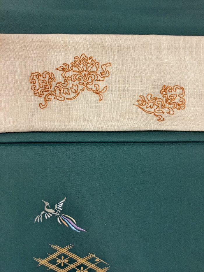 9月の着物と帯コーディネート 田中創造