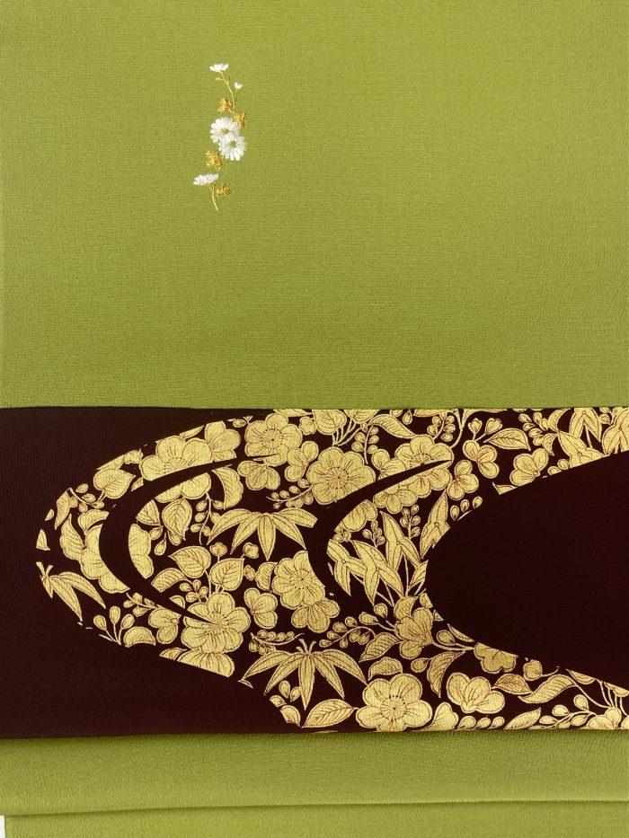 10月の着物と帯コーディネート 松島 輝明
